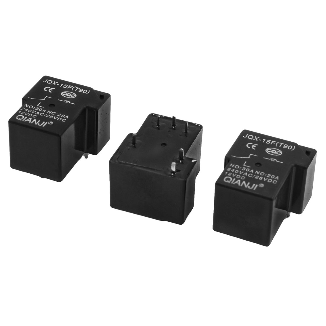 3 x JQX-15F(T90) 12VDC Coil Voltage 6Pin PCB Connector Power Relay