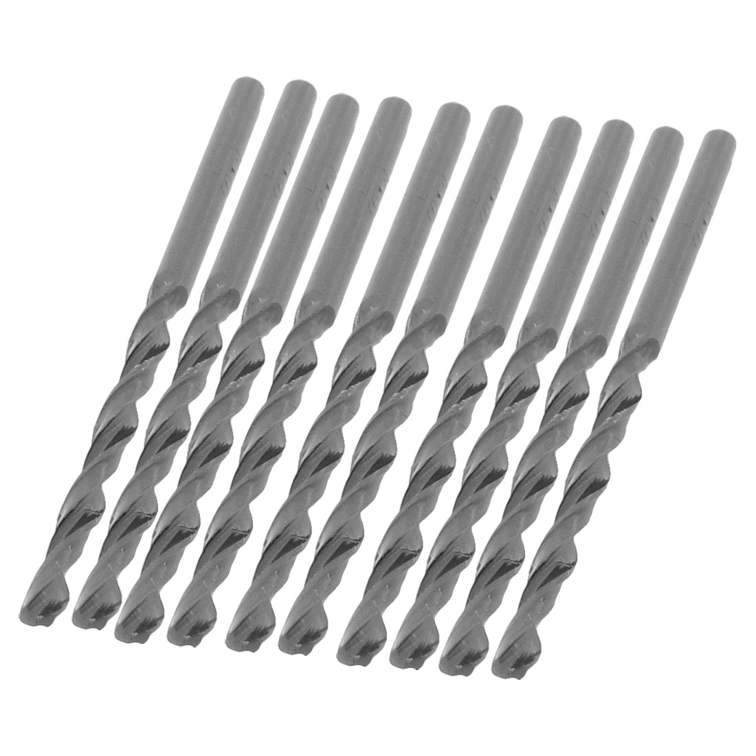 10 Pcs Gray HSS 2mm Diameter Straight Shank Twist Drill Bits