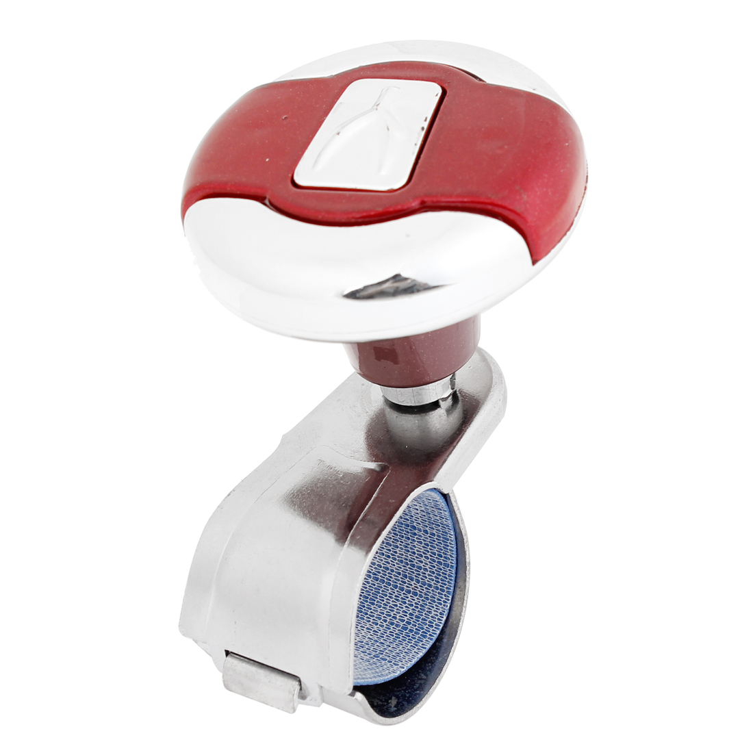 Vehicle Steering Wheel Aid Knob Spinner Spare Part Red Silver Tone