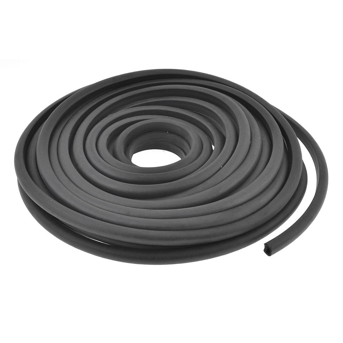 Black Rubber D Style Car Auto Door Window Noise Sealing Strip 15 Meters Long Size L