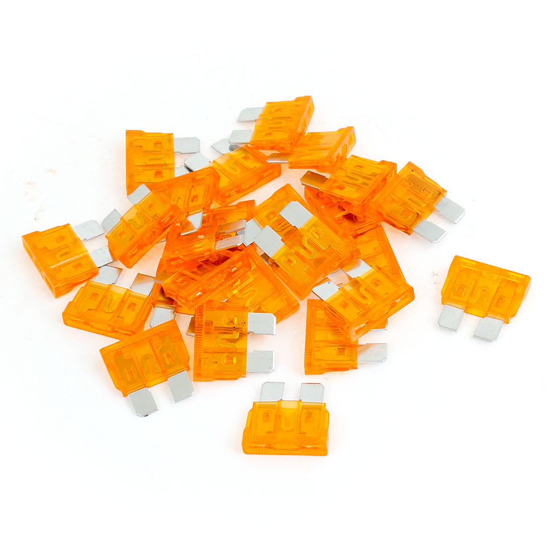 25 Pcs Orange 40A Automotive Fast Acting Blade Fuses for Car Motorcycle