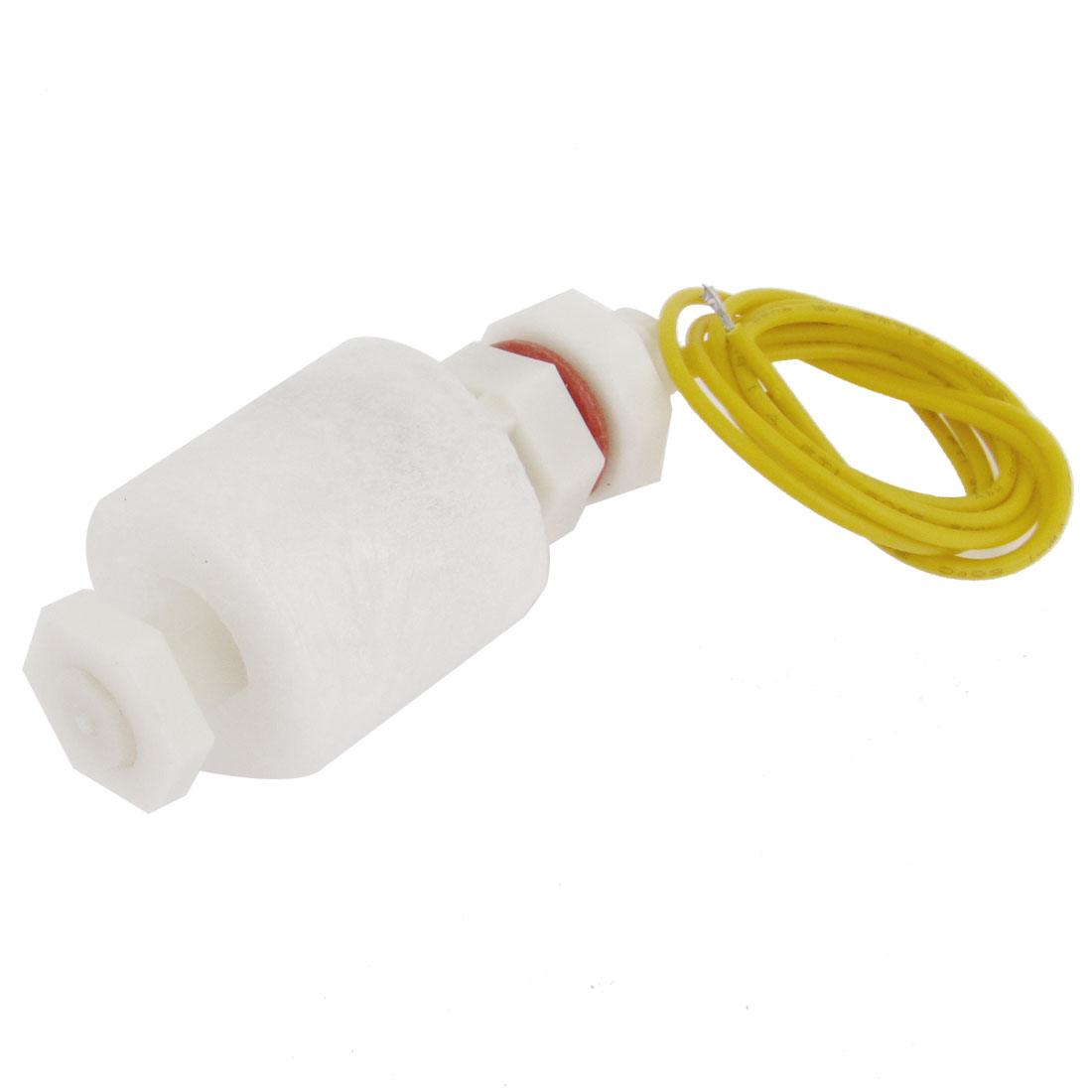 White Plastic Nut Type Aquarium Pool Liquid Water Level Sensor Float Switch