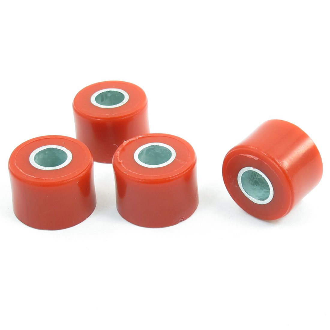 4 Pcs Motorcycle Plastic Shell Shock Absorber Bushings Part Red