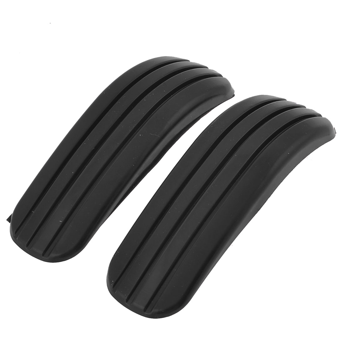 Pair Black Rubber Door Bumper Guard Sticker Black for Car
