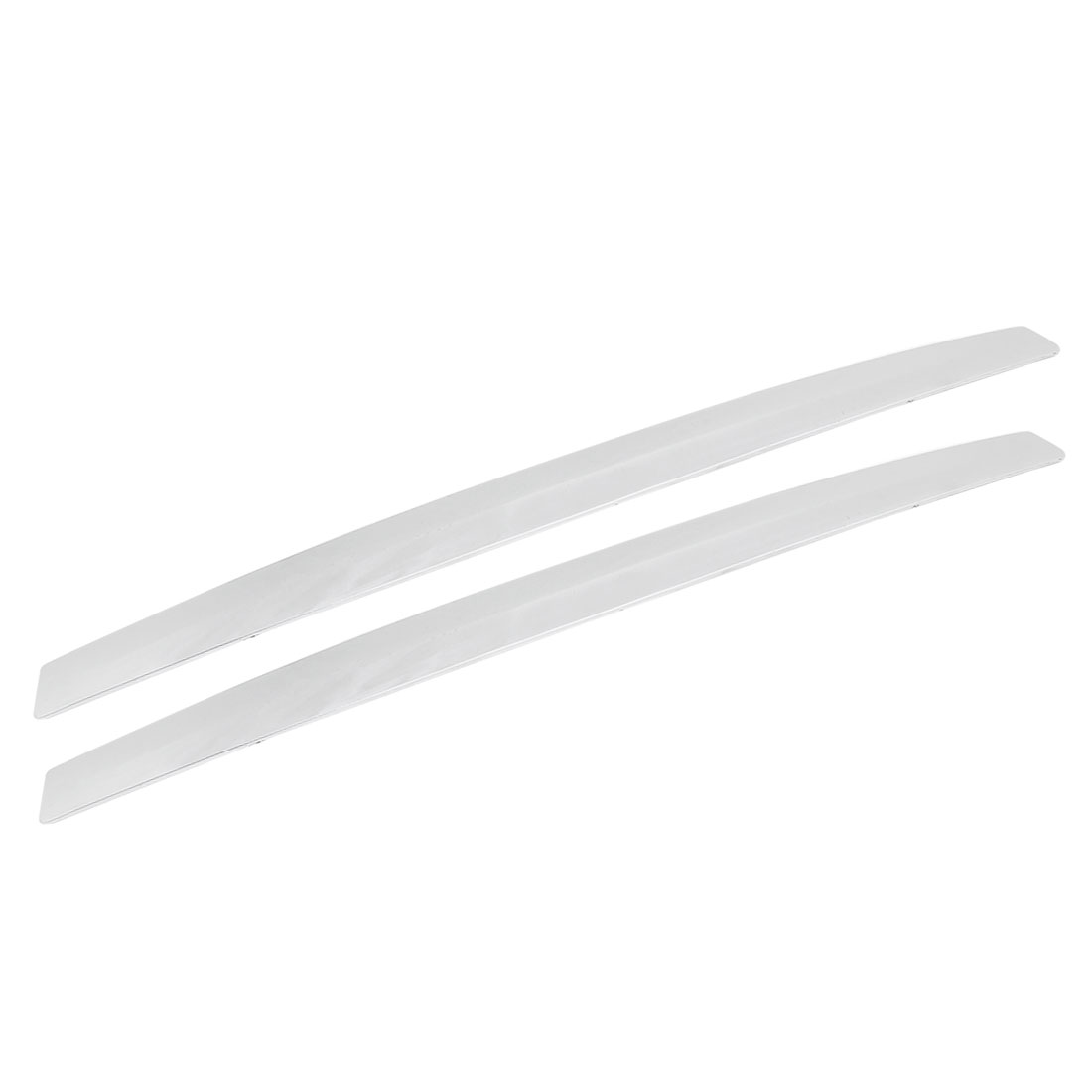 2 Pcs Silver Tone Universal Fit Car Edge Safety Bumper Protection Guard