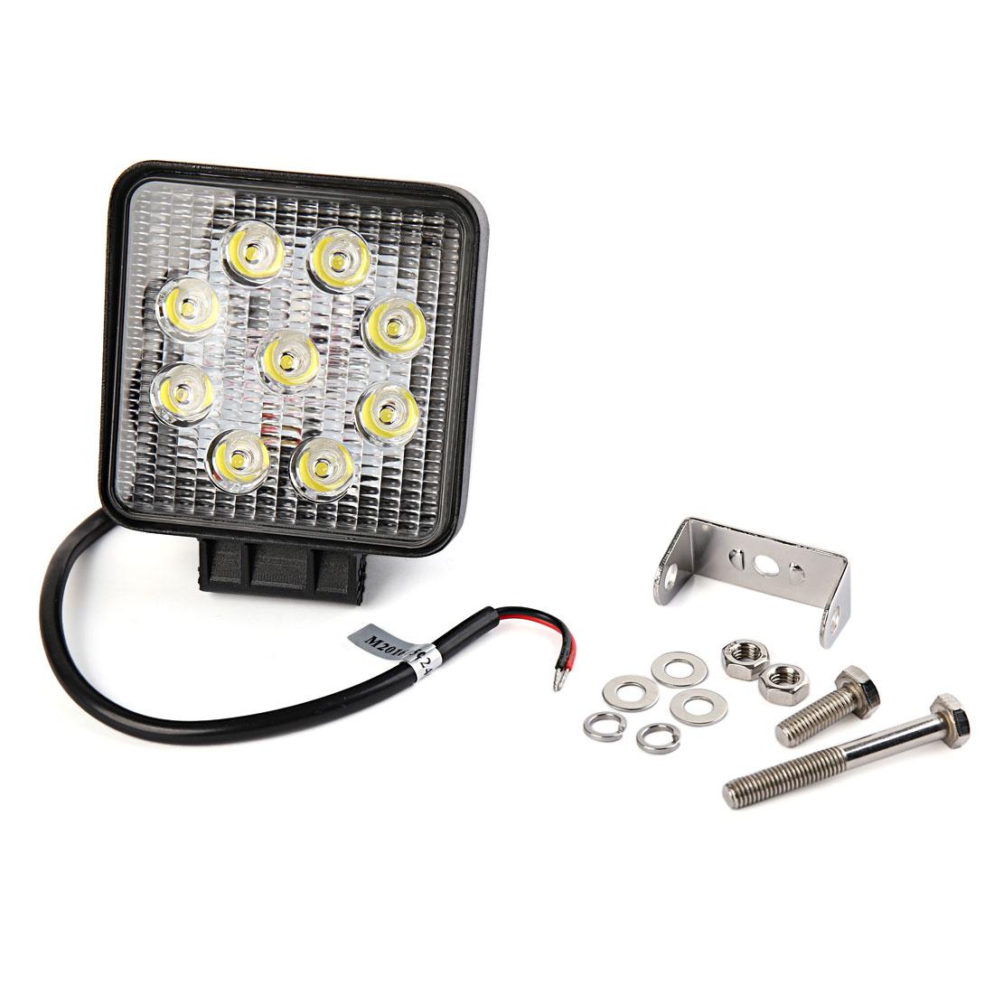 White 9 LED Working Light Offroad Spot Beam Lamp 27W DC 12V for Car Truck