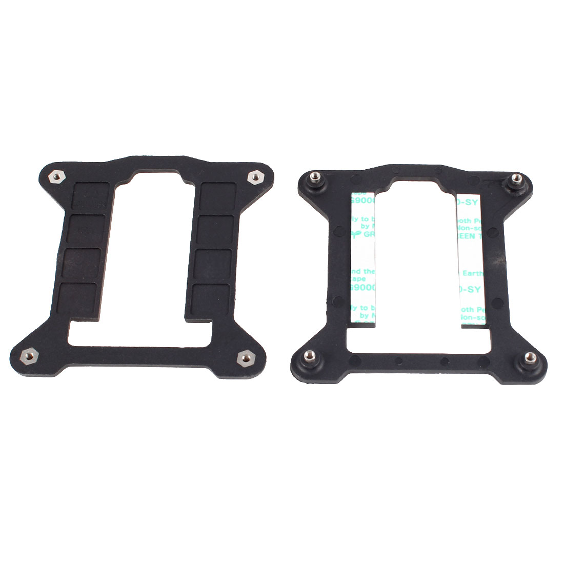 2 Pcs Computer CPU Heatsink Fan Bracket Backplate for Socket 1155 1156 Motherboard