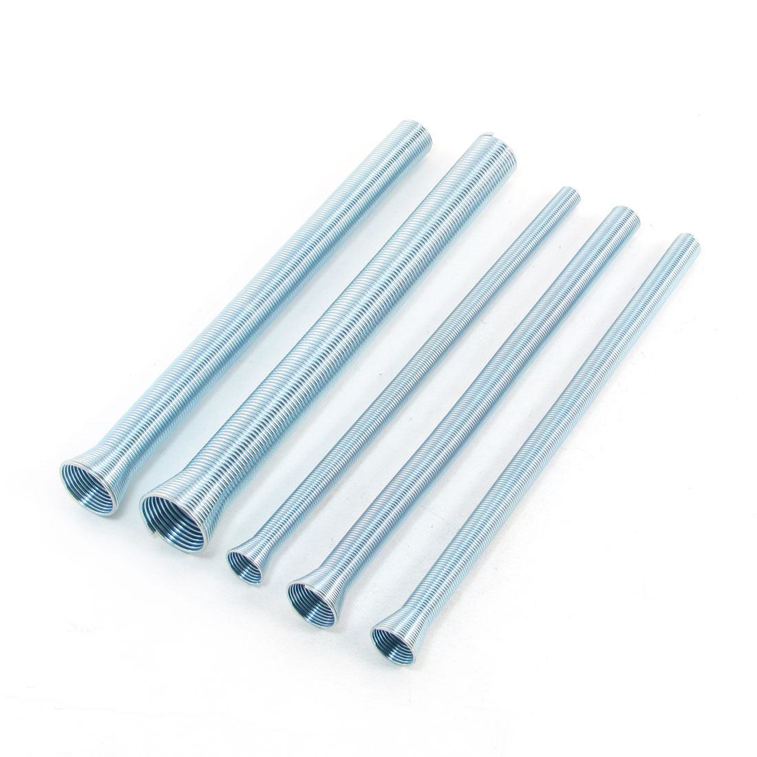 Zinc Plated Steel Wire Spring Tube Bender Kits Light Blue 5 Pcs