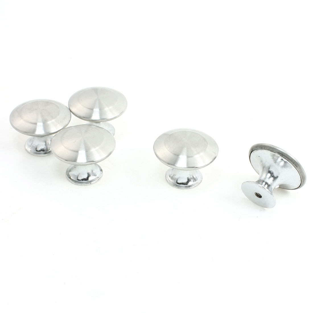 5Pcs Furniture Fitting Silver Tone 29mm Diameter Door Pull Round Knob