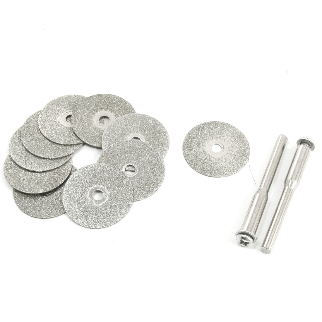 10PCS 20x1mm Aluminum Resin Bond Diamond Coated Grinding Wheel Gray w Drill Bits
