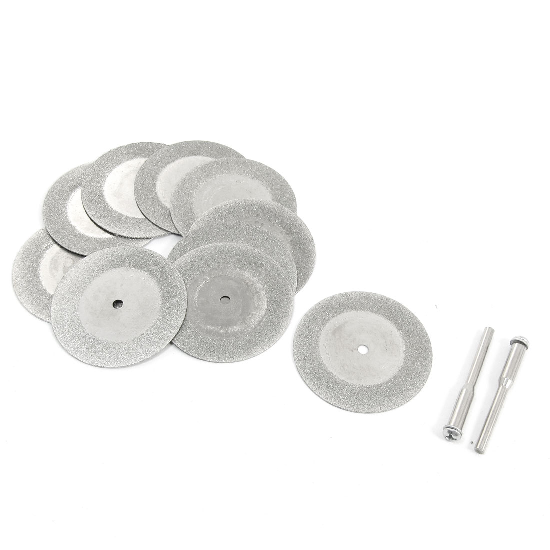 10pcs 40mm OD Abrasives Cutting Discs Diamond Grinding Wheel w Drill Bits