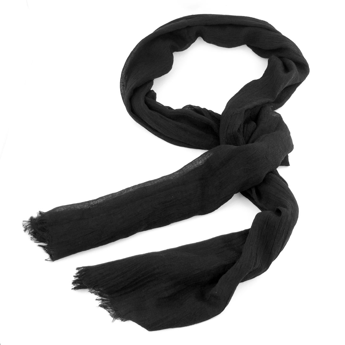 Black Rectangle Shaped Soft Scarf Scarves for Women