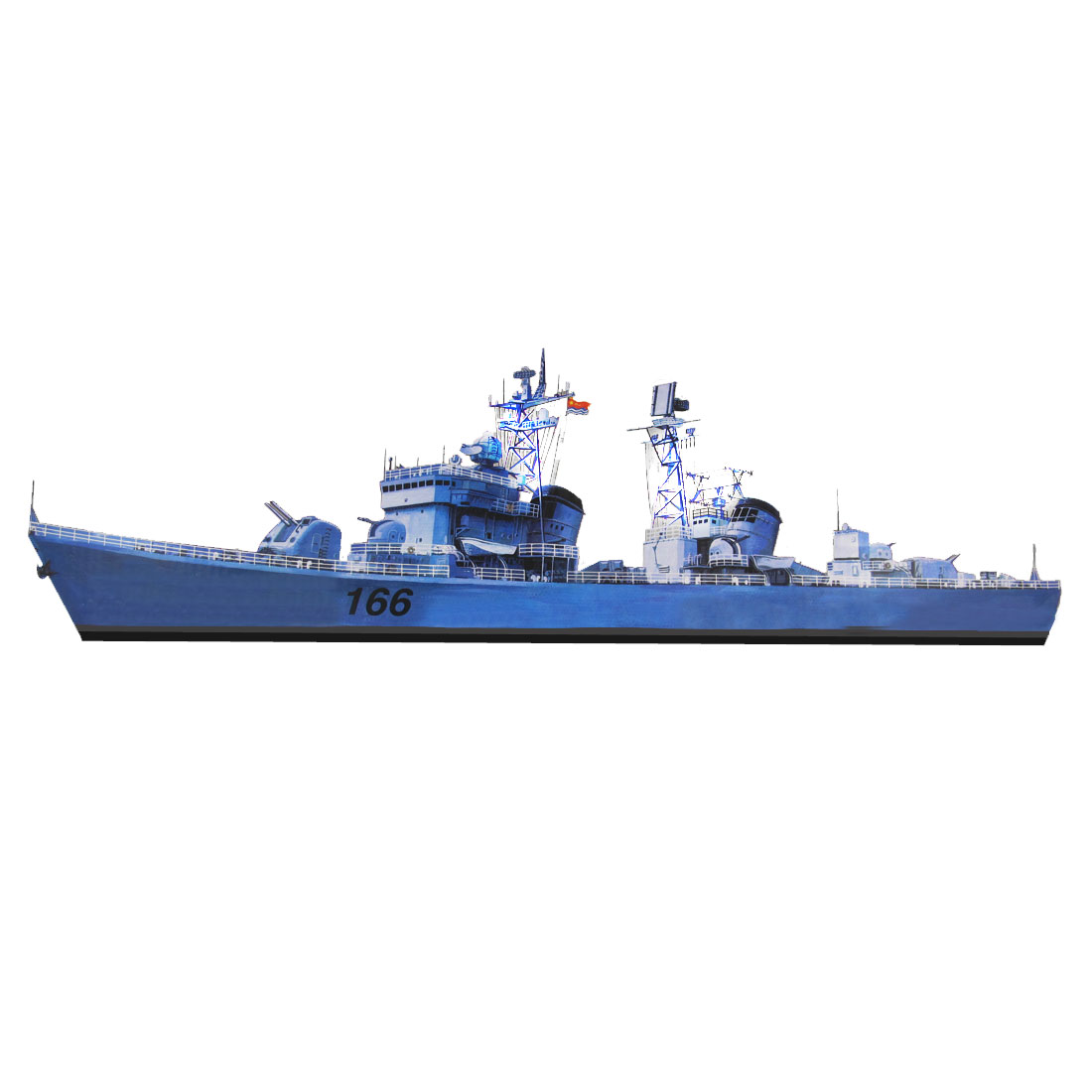 DIY 1/35 Scale Plastic Destroyer Model Construction Kit Puzzle Toy Gray