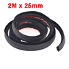 Car Air Sealed Rubber Hollow Sealing Strip Door Weatherstrip 2M x 25mm x 10mm
