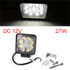 White 9 LED Working Light Offroad Spot Beam Lamp 27W DC 12V for Car Truck