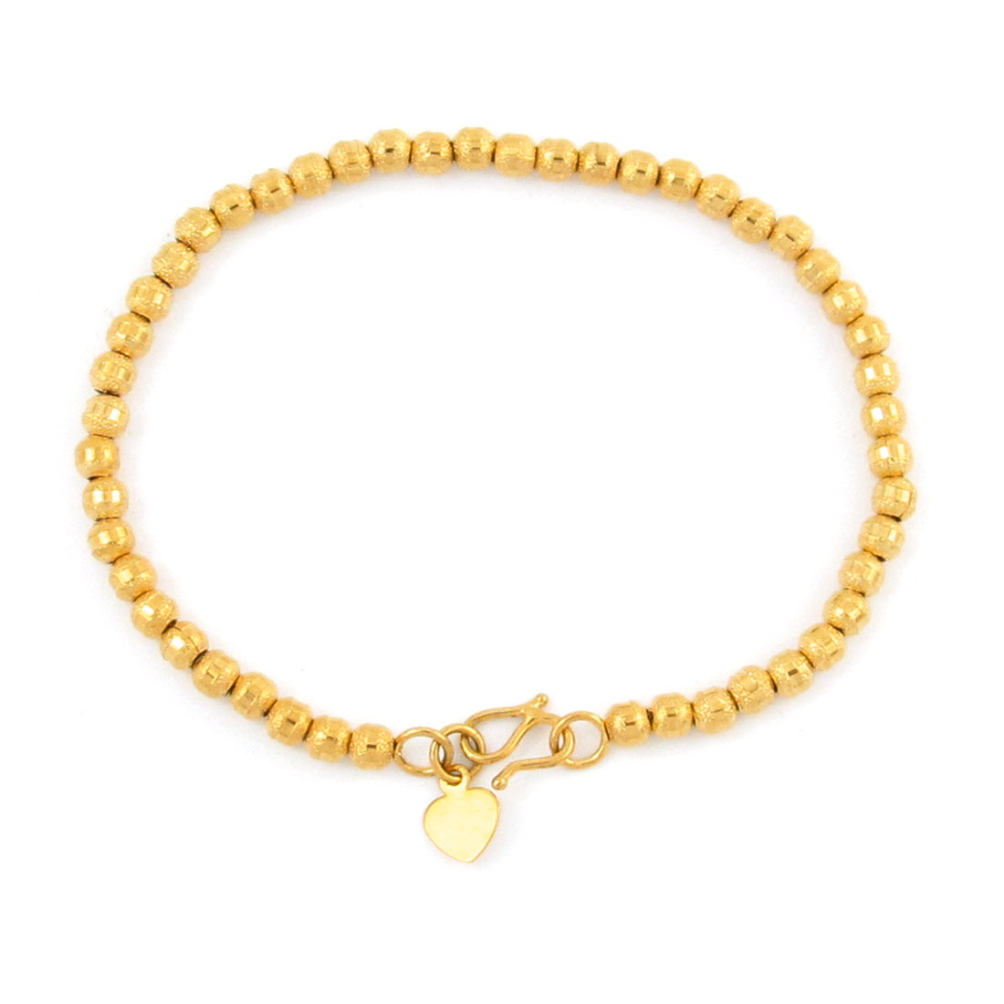 Gold Tone Metallic Beads Bracelet Wrist Ornament for Lady