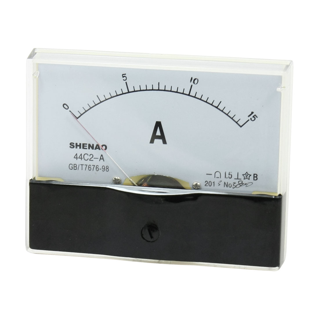 44C2-A DC 0-15A Current Panel Meter Analog Pointer Ammeter