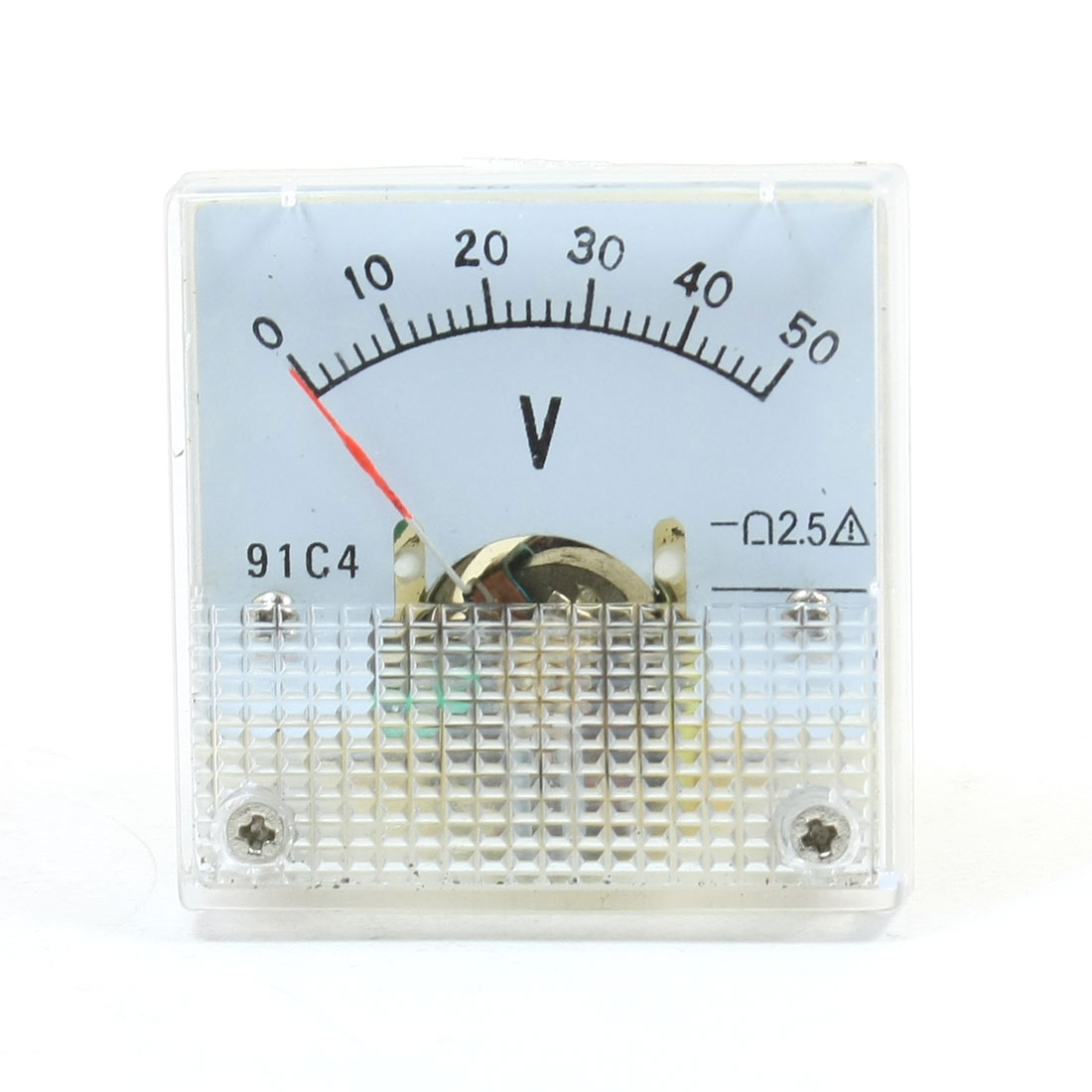 Square Shaped Voltage Panel Meter Voltmeter 91C4 DC 0-50V