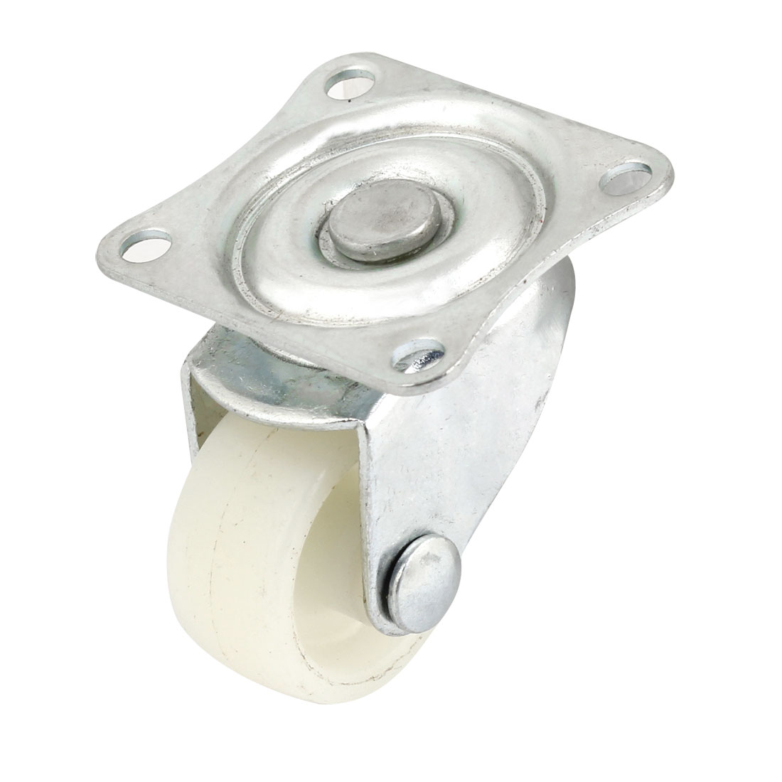 "White Plastic 0.94"" Single Wheel Light Duty Swivel Plate Caster"