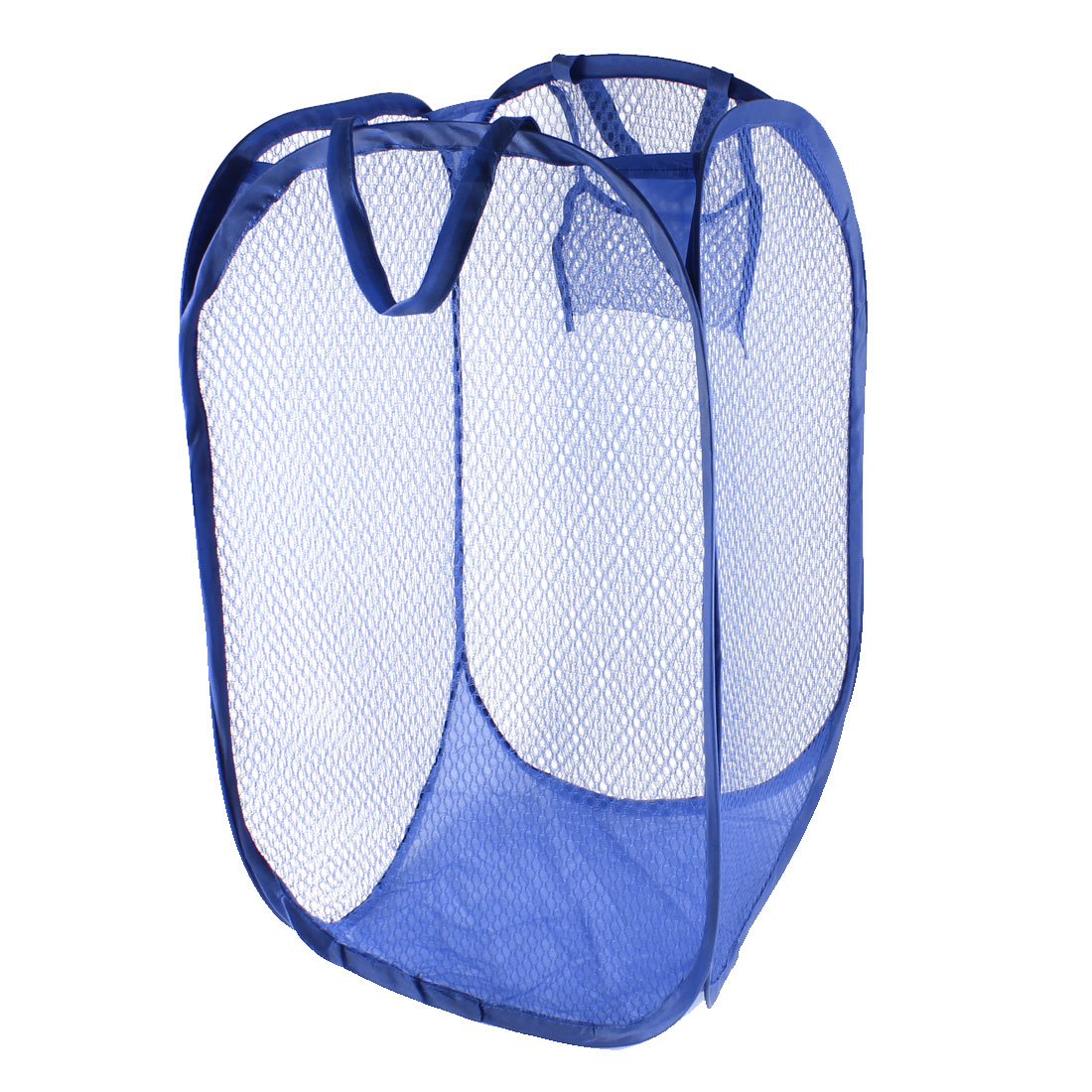 Home Laundry Foldable Mesh Nylon Underwear Clothing Washing Bag Blue