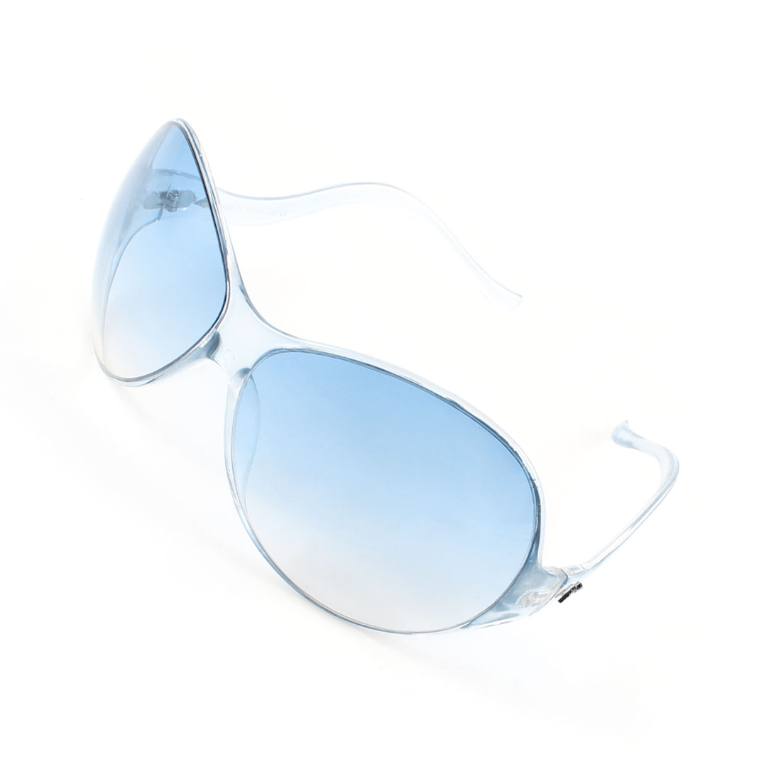 Man Plastic Full Frame Single Bridge Light Blue Lens Eagle Eyes Sunglasses
