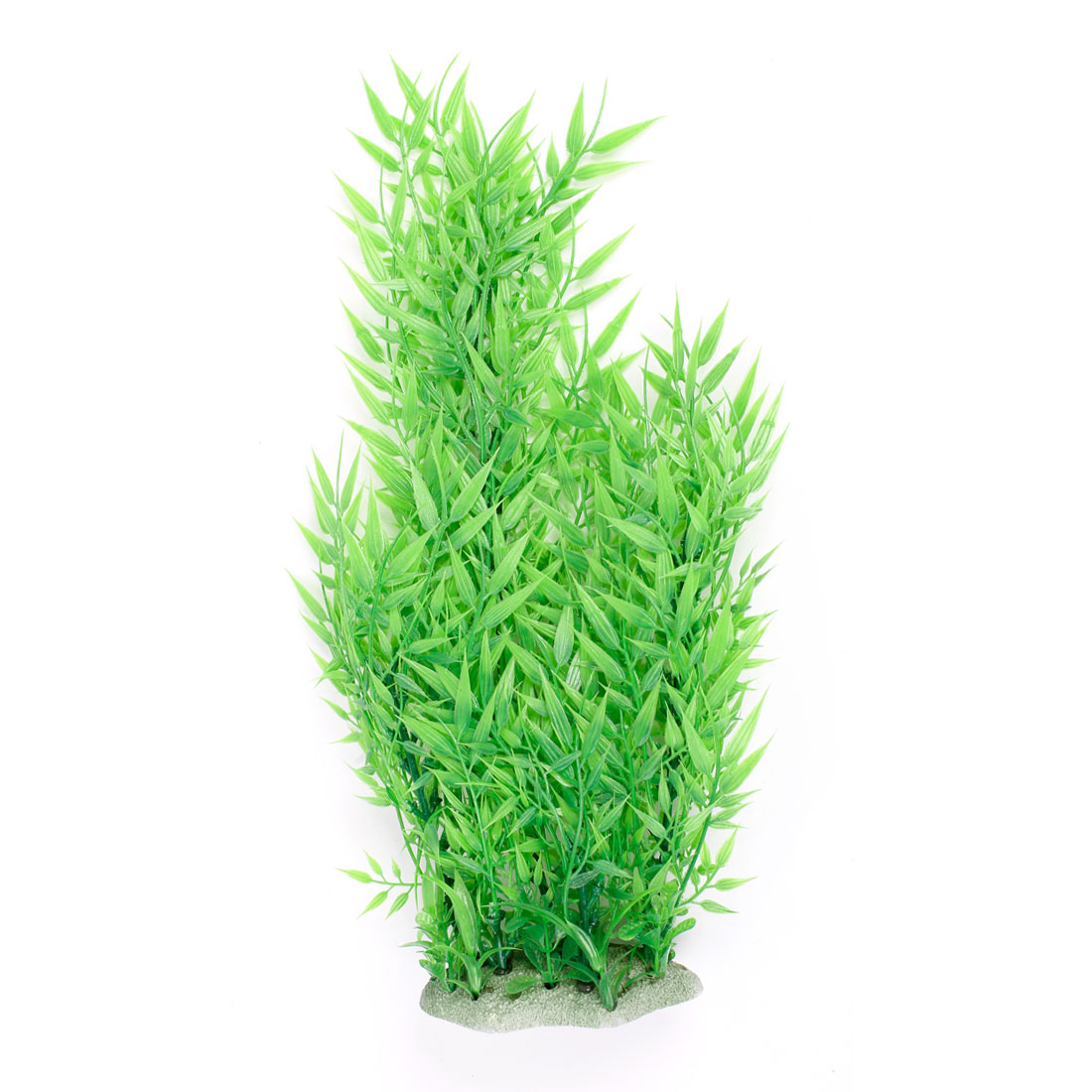 "Aquarium Aquascaping Green Plastic Water Plant Grass Decor 17.7"" Height"