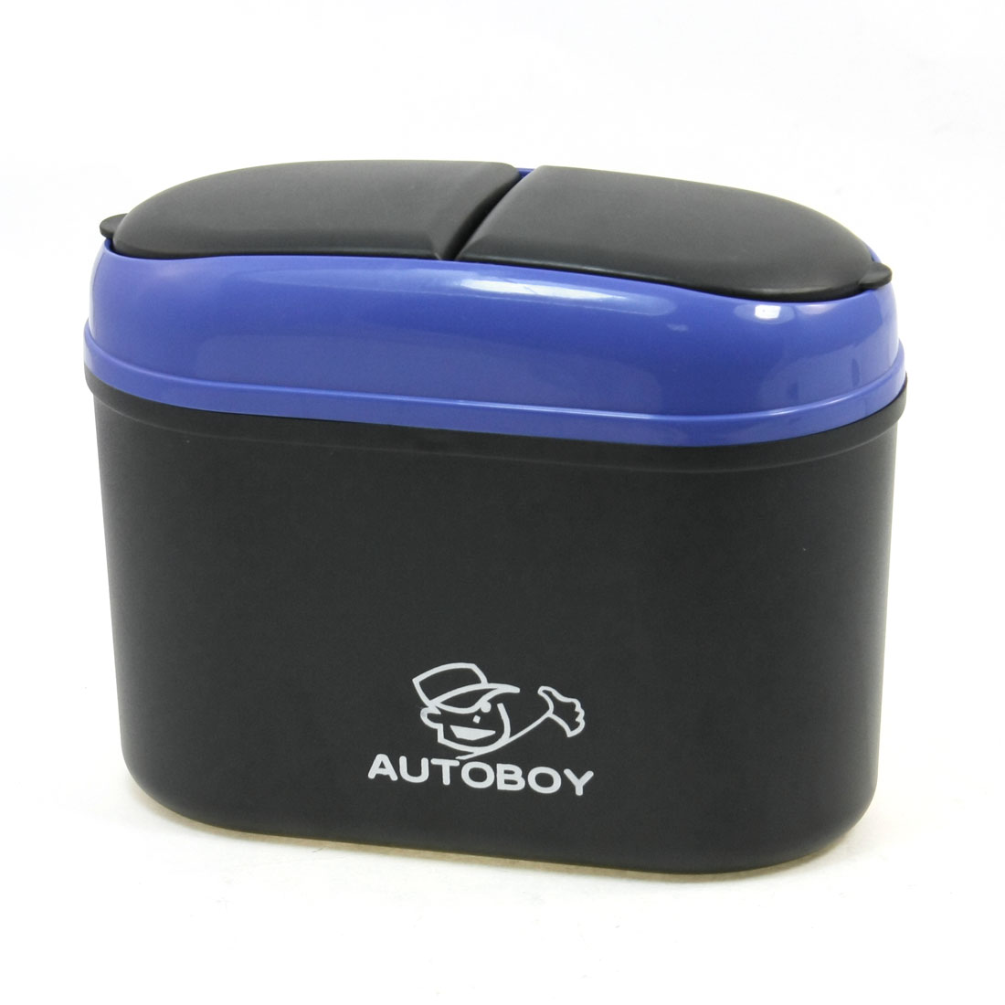 Mini Black Blue Car Trash Rubbish Can Garbage Dust Box Holder Bin