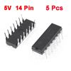 5 Pcs LM324N 5V Pitch 2.54mm DIP 14 Pins Operational Amplifier IC