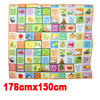 Colorful Watermelon Apple Fruits Pattern Waterproof Crawling Mat 178x150cm