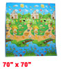 "Colorful Castle Animals Pattern Waterproof Crawling Mat Pad 70"" x 70"""