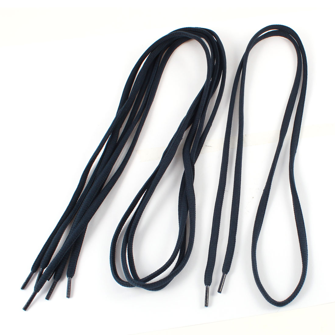 "2 Pairs Dark Blue Flat Shoelaces Shoestring 45"" for Sports Shoes"