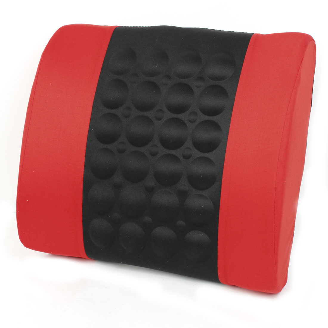 Black Red Electric Back Seat Pillow Massage Cushion Pad for Vehicles Cars