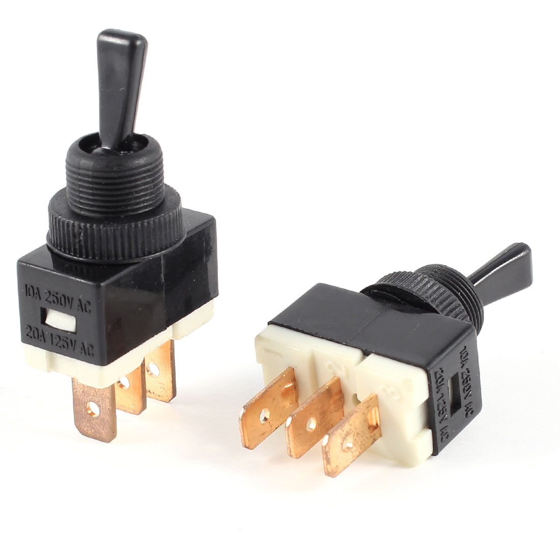 20A/125VAC 10A/250VAC 3 Poles SPDT On/On 2 Position Latching Toggle Switch 2 Pcs