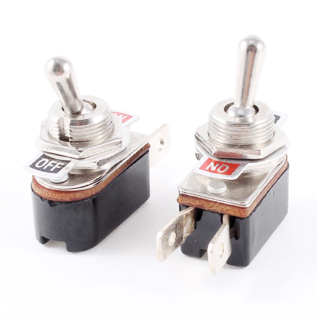 AC 6A/125V 3A/250V 2 Terminal SPST ON-OFF 2 Position Toggle Switch 2 Pcs