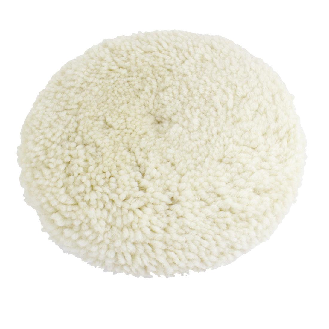 "Auto Car White Faux Wool Polishing Wheel Clean Tool 9.1"""