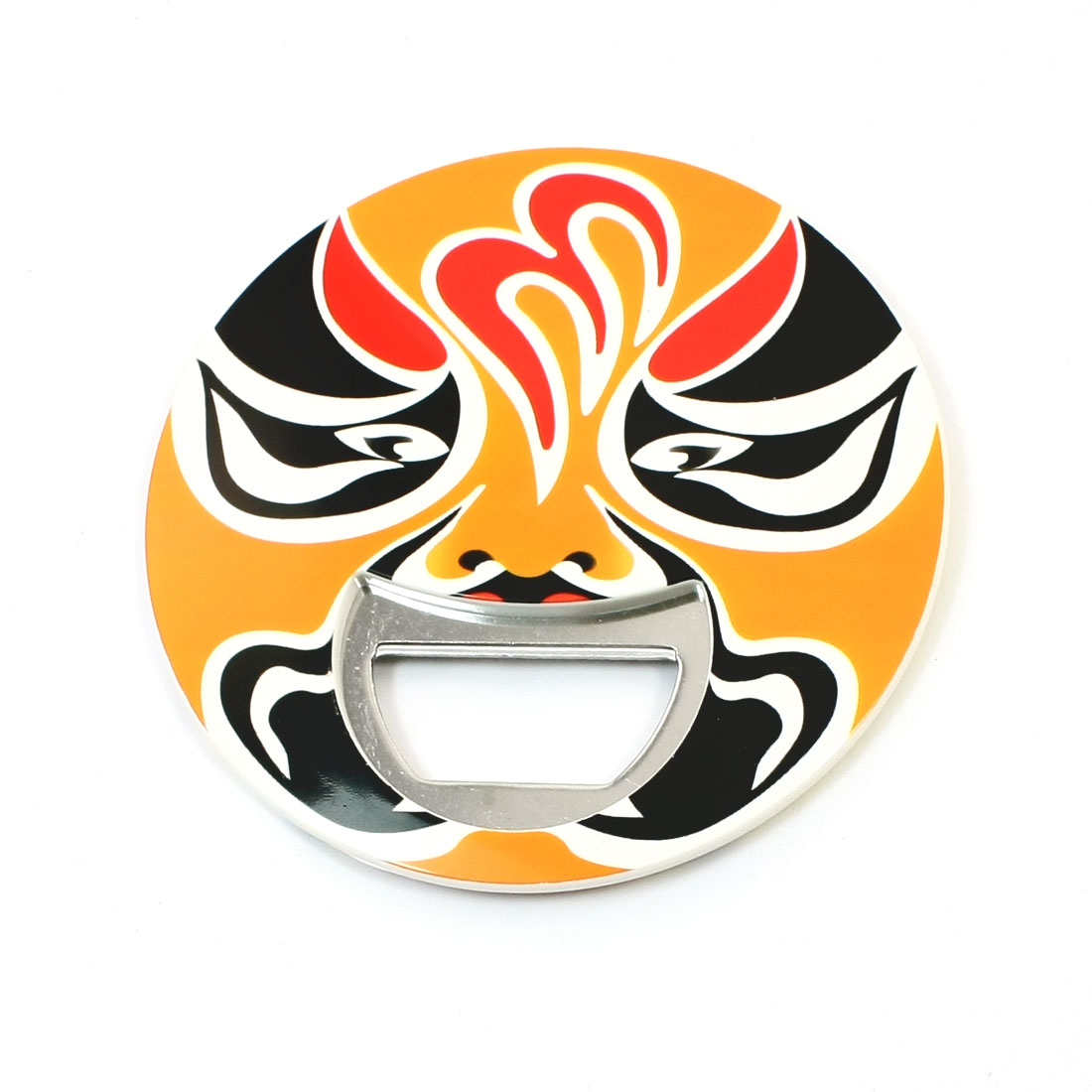 Party Club Bar Peking Opera Face Print Round Beer Milk Bottle Opener