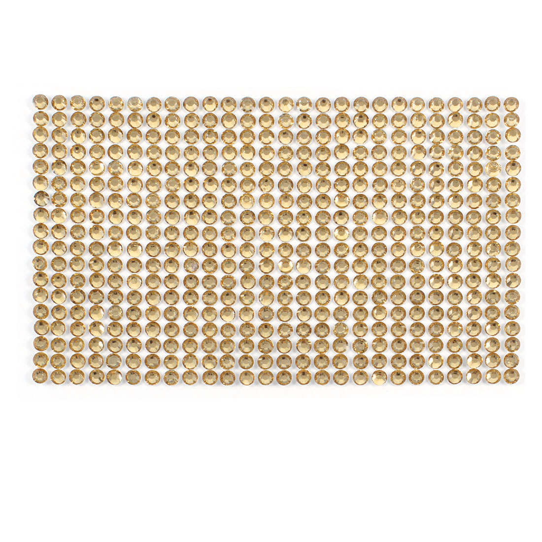 Shiny Gold Tone Rhinestone Round Shaped Cell Phone Smartphone Sticker