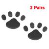 2 Pairs Black Foam Dog Foot Print Style Car Decor Footprints Sticker