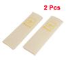 Auto Pair Bear Pattern Beige Soft Fleece Seat Safety Belt Cover Shoulder Pad