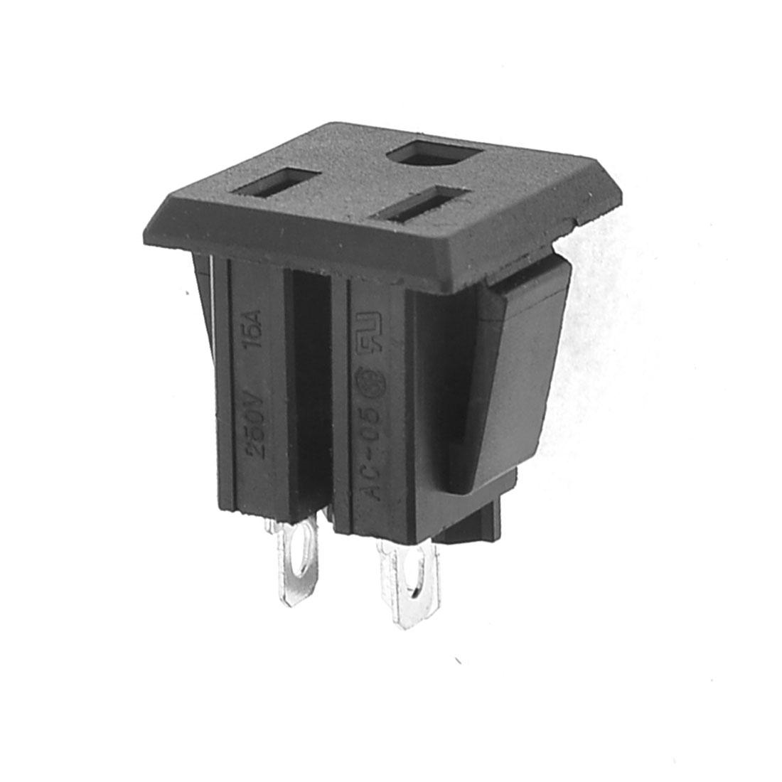 Black 3 Jacks Canadian Residential US Power Socket 250V 15A