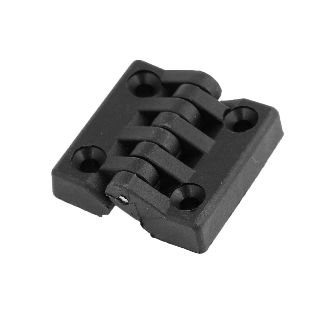 Black Single Metal Axle Plastic Miniature Door Butt Hinges