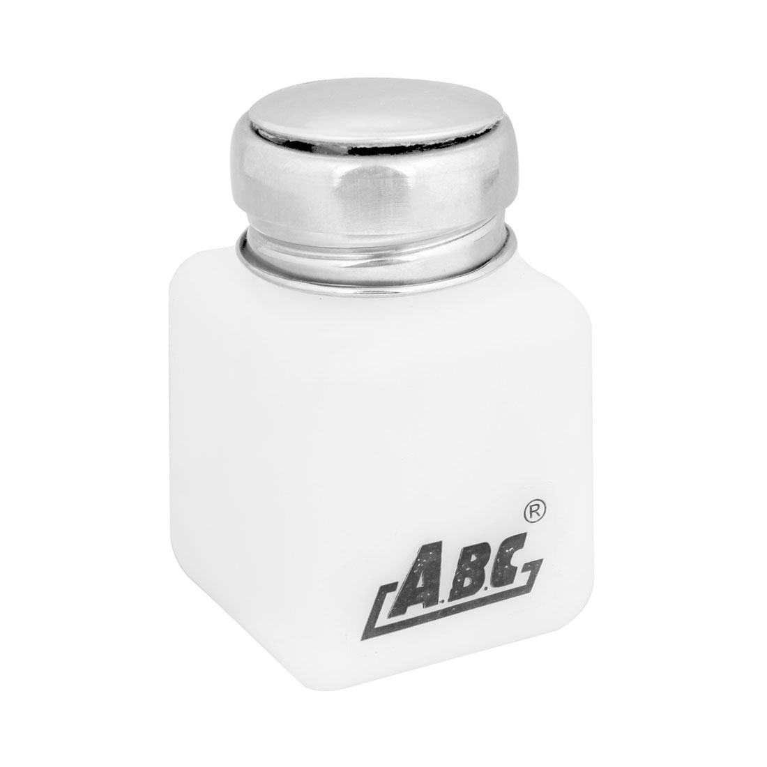 Silver Tone Metal Cap 120ml Plastic Liquid Container Alcohol Bottle White