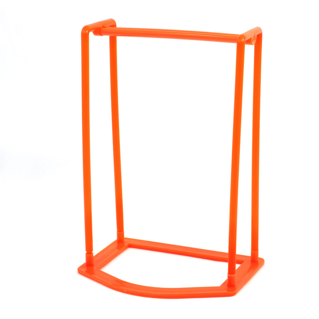 Detachable Orange Plastic Clothes Hanger Storage Holder Laundry Room