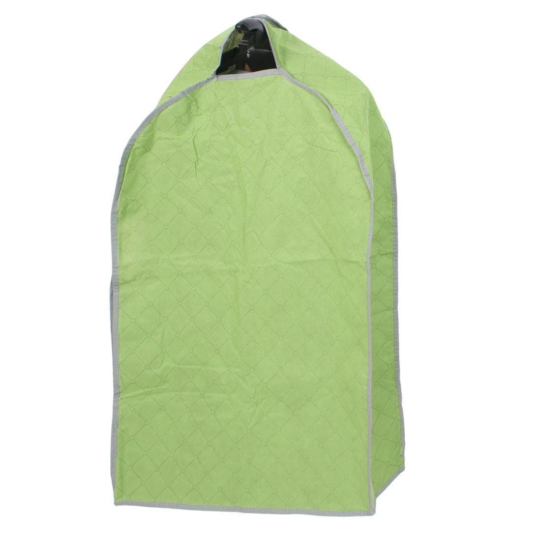 Green Checked Pattern Dustproof Dress Garment Suit Cover Protector Bag