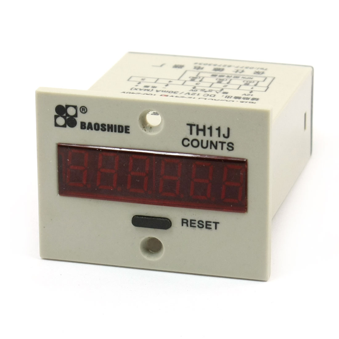 220VAC No-Voltage Input DC12V Output 6 Digits Accumulating Counter TH11J-L