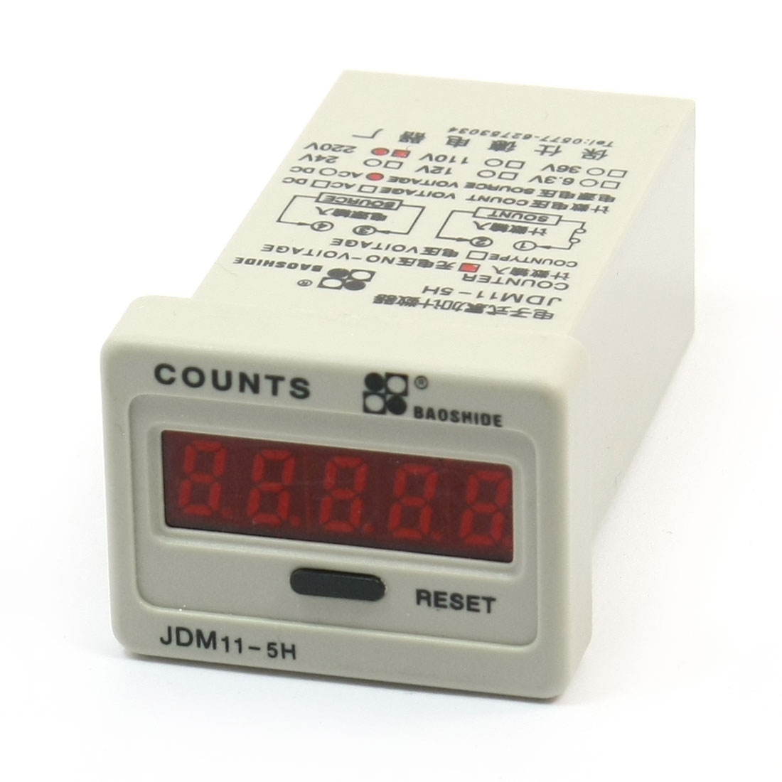 JDM11-5H 220VAC 5 Digits No-Voltage Input LED Display Accumulating Counter