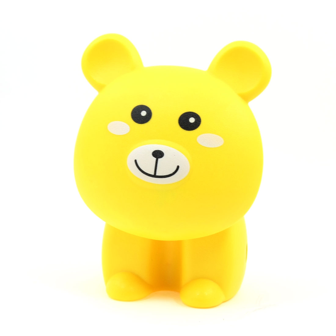 US Plug AC 220V Yellow Cute Foldabe Bear Design White 16 LEDs Desk Lamp Light