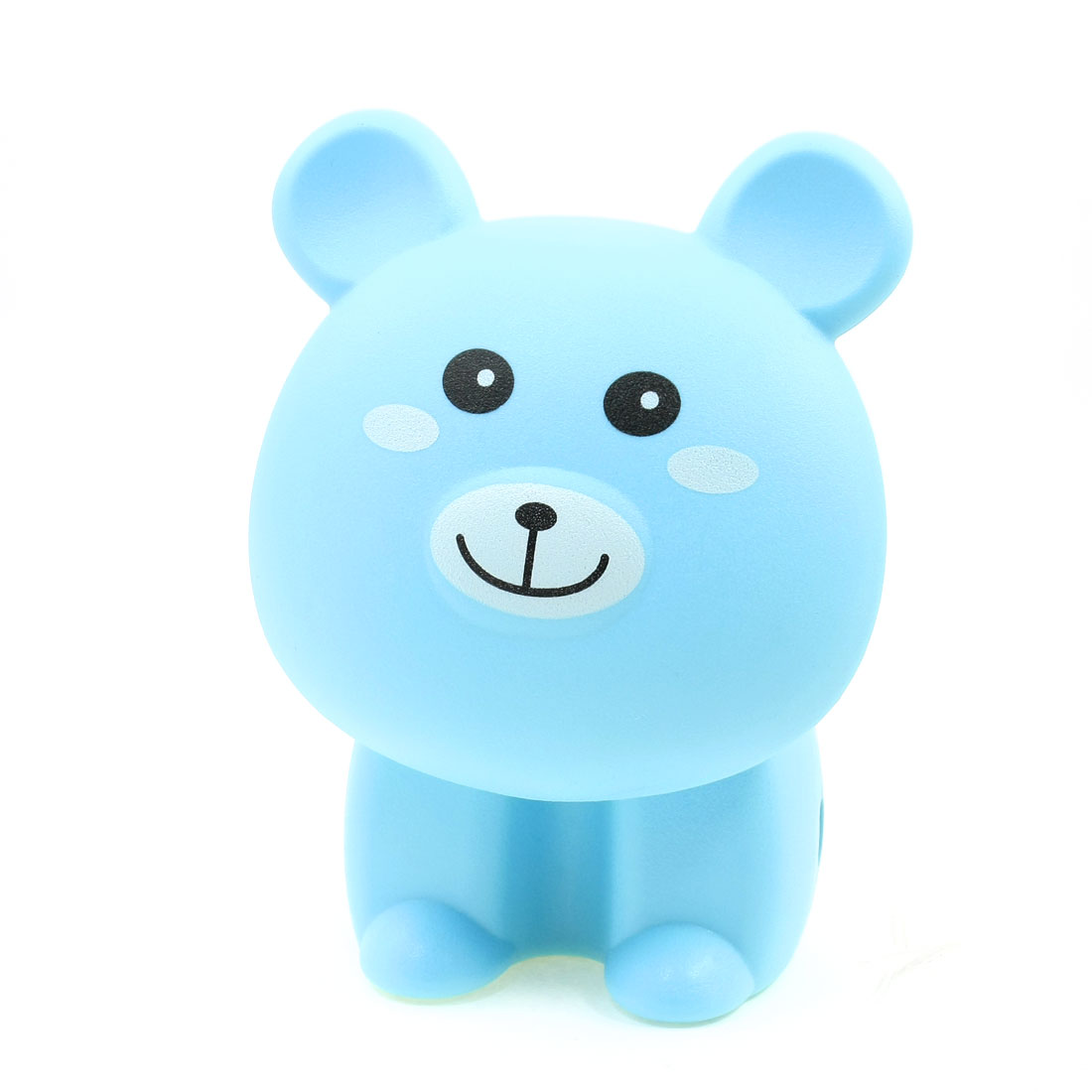 US Plug AC 220V Blue Plastic Bear Shaped 16 White LED Rechargeable Desk Lamp w Cable