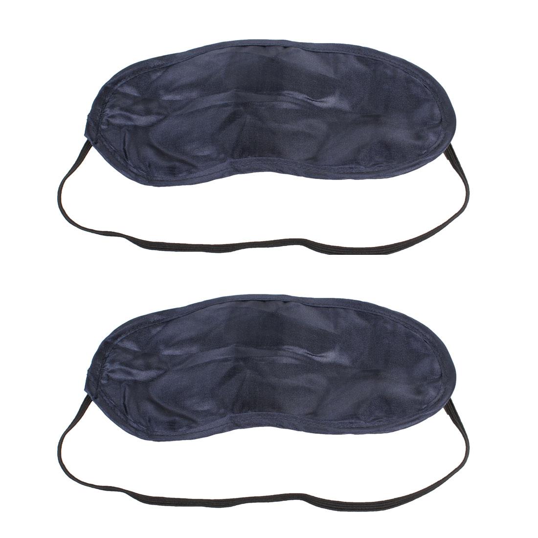 Traveling Black Nylon Sleeping Mask Eye Cover Eyeshade 2pcs