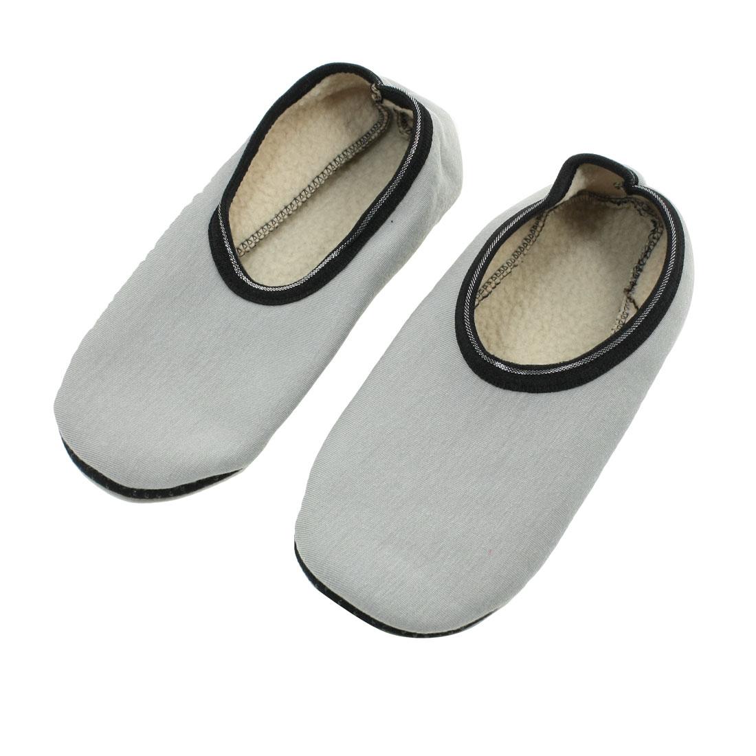 Lady Winter Floor Room Soft Anti Slip Boat Socks Size M Pair Gray